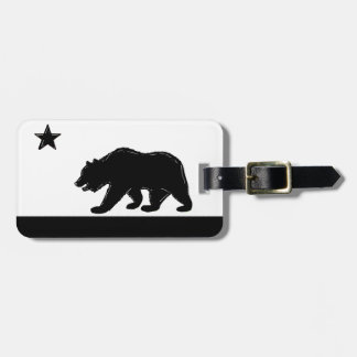 California state flag bear symbol luggage tag