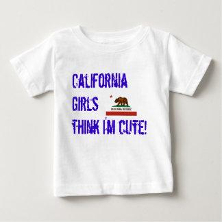 california-state-flag, California Girls think I... Baby T-Shirt