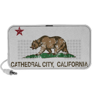 California State Flag Cathedral City Mini Speakers