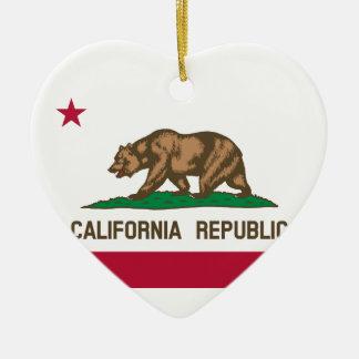 California State Flag Ceramic Ornament