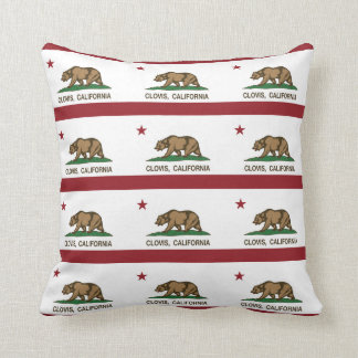California State Flag Clovis Throw Pillow