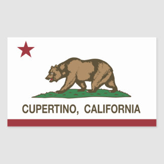 California State Flag Cupertino Rectangular Sticker