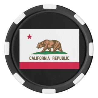 California State Flag Design Poker Chips