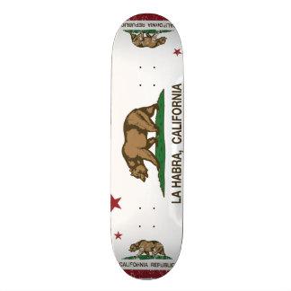 California State Flag La Habra 19.7 Cm Skateboard Deck