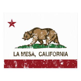 California State Flag La Mesa Postcard