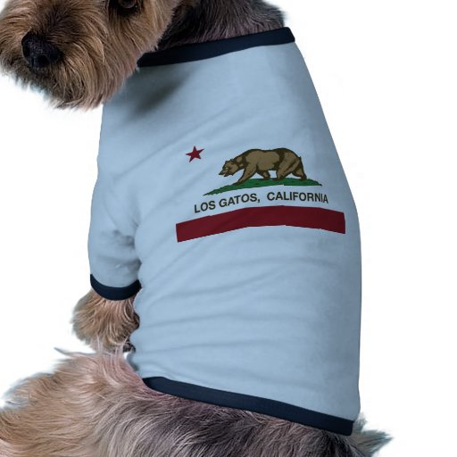 California State Flag Los Gatos Dog T-shirt