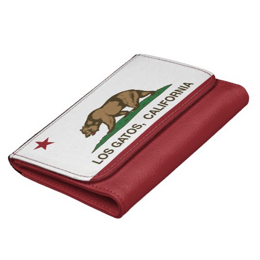 California State Flag Los Gatos Wallet For Women