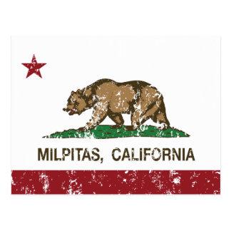 California State Flag Milpitas Postcard