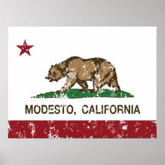 California State Flag Modesto Poster