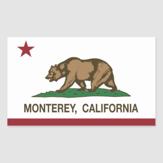 California State Flag Monterey Rectangular Sticker