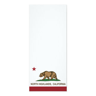 California State Flag North Highlands Personalized Invites