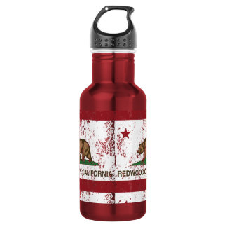 California State Flag Redwood City 532 Ml Water Bottle