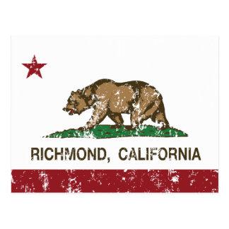 California State Flag Richmond Postcard
