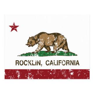 California State Flag Rocklin Postcard