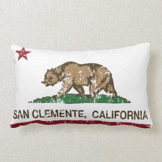 California State Flag San Clemente Throw Pillow