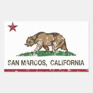 California State Flag San Marcos Rectangular Sticker