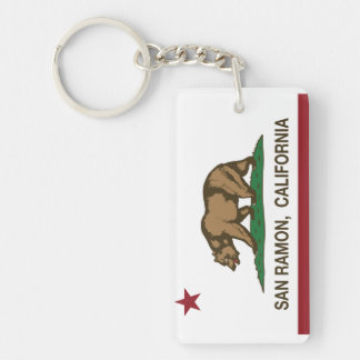 California State Flag San Ramon Key Ring