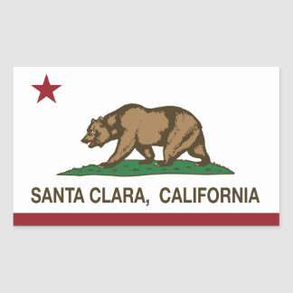 California State Flag Santa Clara Rectangular Sticker