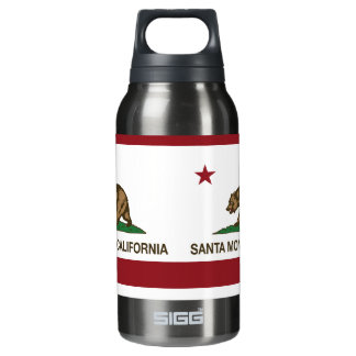 California State Flag Santa Monica Insulated Water Bottle