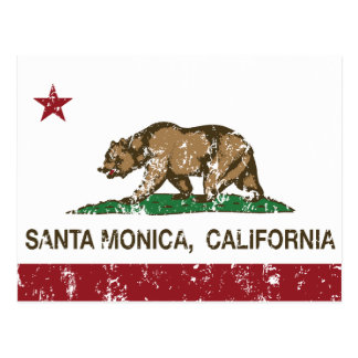 California State Flag Santa Monica Post Cards