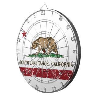 California State Flag South Lake Tahoe Dart Board