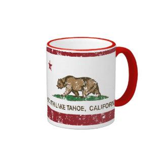 California State Flag South Lake Tahoe Mugs