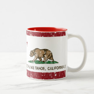 California State Flag South Lake Tahoe Coffee Mugs