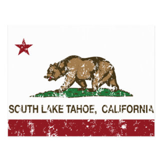 California State Flag South Lake Tahoe Postcard