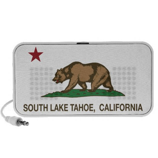 California State Flag South Lake Tahoe Notebook Speaker