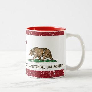 California State Flag South Lake Tahoe Two-Tone Mug