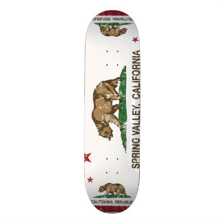 California state Flag Spring Valley Skateboard Deck