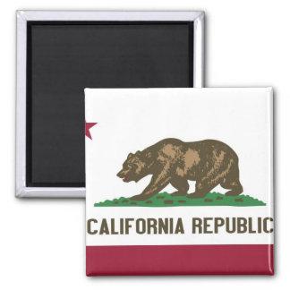 California State Flag Square Magnet