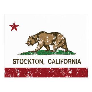 California State Flag Stockton Postcard
