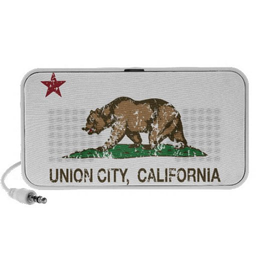 California State Flag Union City Notebook Speakers