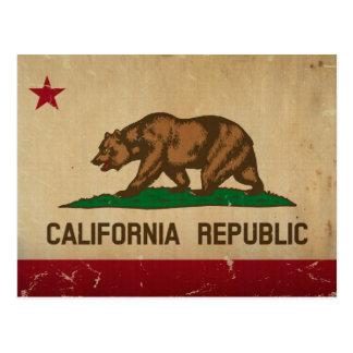 California State Flag VINTAGE Postcard