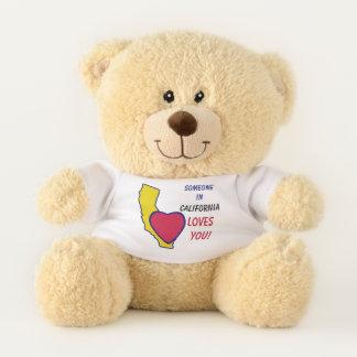 California State Heart Teddy Bear
