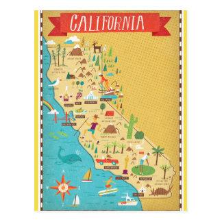 California State Map Postcard