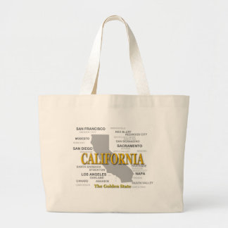 California State Pride Map Silhouette Bags