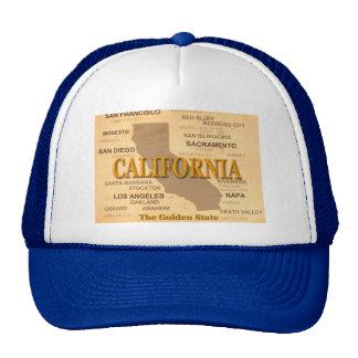 California State Pride Map Silhouette Cap