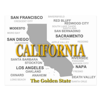 California State Pride Map Silhouette Postcard