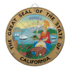 California State Seal Dartboard