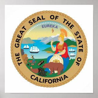 California State Seal Poster