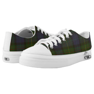 California State Tartan Low Top Zipz Sneakers