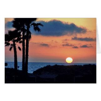 California Sunset at Oxnard Beach....Relax & Enjoy Card