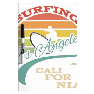 California surf illustration, t-shirt graphics dry erase boards