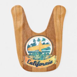 California surfboard baby bibs