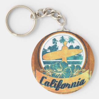 California surfboard basic round button key ring