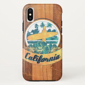 California surfboard iPhone x case