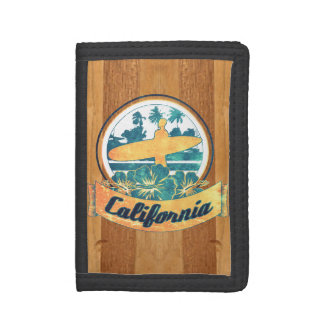 California surfboard tri-fold wallets