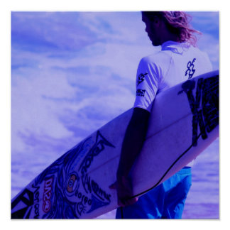 California Surfer Poster